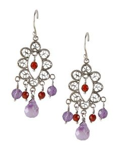 #YvonneChrista for #FirstPeopleFirst #orecchini in #argento #925 #earrings #silver #bohochic #hippiechic #Style #fashion #purple #red