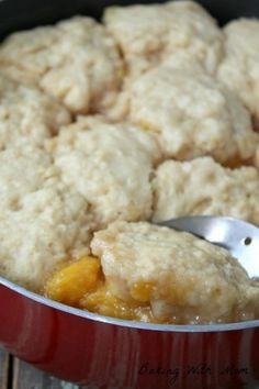 Peach Dumplings recipe cooks in one skillet. Delicious flavors blend for an easy dessert
