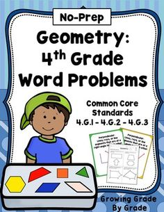 Geometry: No-Prep 4th Grade Word Problems, Posters, Teachi