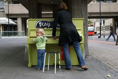 101 piano's placed all over town