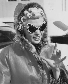 Jayne Mansfield - love the pin curled hair and those glasses are to DIE for!