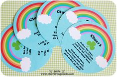 Free printables at The Crafting Chicks for a St. Patrick's Day treasure hunt. What kid wouldn't love this?