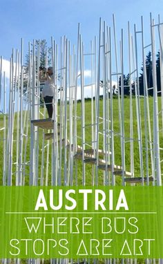 Hop on, hop off for unusual art and architecture in one of the quirkiest places to visit in Austria #visitvorarlberg #myvorarlberg