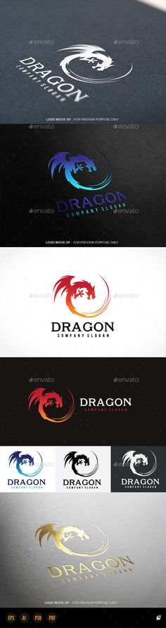 Dragon — Photoshop PSD #crew #leader • Available here → https://graphicriver.net/item/dragon/11298459?ref=pxcr