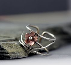 Cherry Blossom Cuff Ring Adjustable Size 910 Mothers by HapaGirls, $50.00