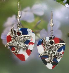 Eagle Guitar Pick Earrings - Choice of Color