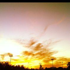 Sunset over Greensboro.
