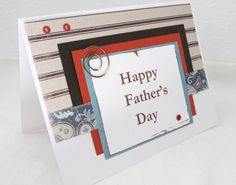 Father's Day Card  Brown and White Card  by PrettyByrdDesigns, $4.00