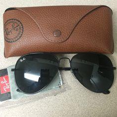 46a4c97b74c1f All black metal Ray Ban aviators Classic!!! Ray-Ban Accessories Sunglasses  Gafas
