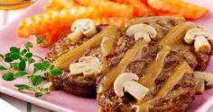 Saucy Burger Steak | Del Monte Philippines http://www.delmonte.ph/kitchenomics/recipe/saucy-burger-steak
