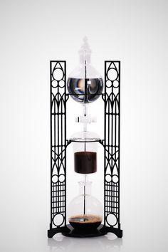 Art Nouveau : Art Deco Cold Drip Coffee Maker with CNC Laser Cut Frame