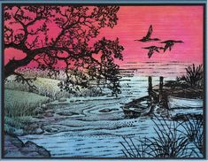 At the lake - Stampscapes by aimless55303 - Cards and Paper Crafts at Splitcoaststampers