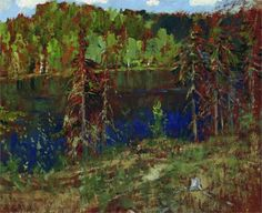 Lake in the forest / Isaac Levitan