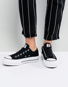 Converse Chuck Taylor All Star Platform Ox Sneakers In Black 59f53d8a3