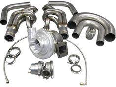 cxracing.com: Cxracing Single Turbo DIY Kit Small Block Chevy SBC GM 302 305 307 327 350 400 T76 Wastegate Header
