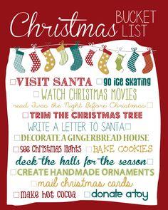 christmas bucket list 2014 create memories not stress this
