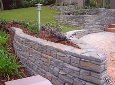 1000+ images about Landscaping on Pinterest | Stone Retaining Wall ...