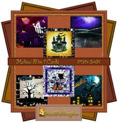 Hallow' Mix 1 Deckblätter für Karten (PU,S4H) Scrapbook von SholaWebGraphics auf…