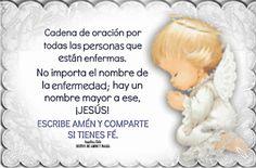 SUEÑOS DE AMOR Y MAGIA: Cadena de oración por los enfermos