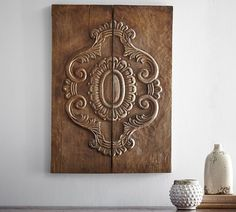 Carved Wood Plank Art | Pottery Barn