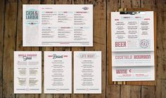 Cask & Larder Menus    (not to be picky, but I see 3 Lost Type typefaces...still beautiful, though)