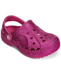 Crocs Little Girls' or Toddler Girls' Baya Glitter Shoes