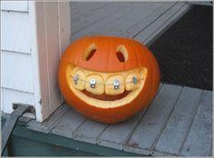 DIY pumpkin with braces... SO cute!!