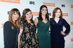 Saturday Night Live cast members, from left, Nasim Pedrad, Aidy Bryant, Cecily Strong and Vanessa Bayer attend the season 3 premiere event of IFC's Portlandia.