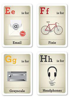 Hipster Style: Alphabet Design & Language Translator Chart