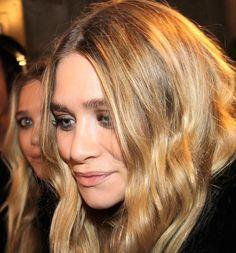 Ashley Olsen with subtle smokey eyes, soft waves & nude lips #beauty #hair #mka #celebrity