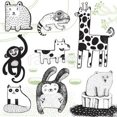 animals and cute ways to draw them