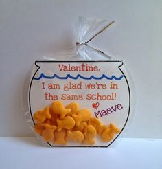 Goldfish Cracker Valentine Idea