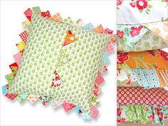 Prairie Points Pillow | Sew4Home ~ http://www.sew4home.com/projects/pillows-cushions/prairie-points-pillow