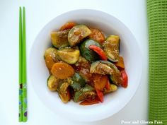 Poor and Gluten Free (with Oral Allergy Syndrome): Gluten Free Baby Thai Eggplant Stir Fry (Soy-Free option)