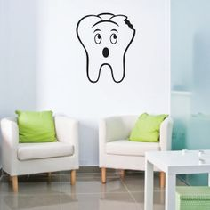 Large Tooth with Cavity Vinyl Decal- Great for Dentist's Office or Bathroom