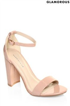 559ecf359e Buy Glamorous Patent Barely There Block Heel Sandals from the Next UK  online shop