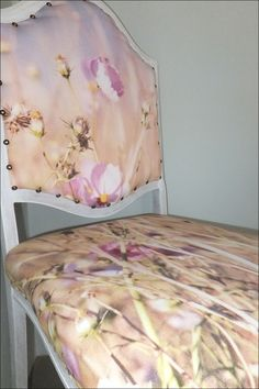 Cosmos flowers Choose an image and have it printed on cotton fabric for custom printed fabric to upholster with