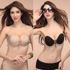 3573b94942 Lady Invisible Self-Adhesive Reusable Pushup Prom Wedding Backless  Strapless Bra Latest Bra