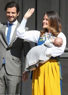 National Day celebrations.  Prince Carl Philip and Princess Sofia with their son Prince Alexander