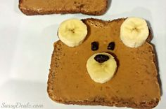 Teddy Bear Toast (Healthy Kid's Breakfast Idea) - Sassy Dealz