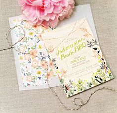 floral invitation - Quill & Fox