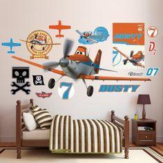 Disney Planes Wall Decals Stickers Airplane Bedroomcar Bedroomkids