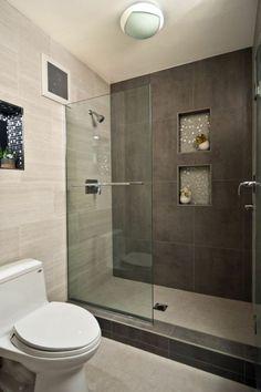 begehbare dusche kleines bad einrichten