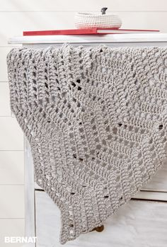 Ripples In The Sand Crochet Afghan - Free Crochet Pattern - (yarnspirations)