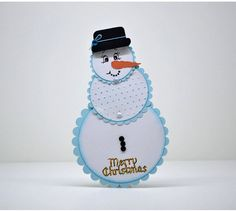 A fun Christmas Card with white Card Stock decorated with embossing and distressed Ink. The card folds up but leave enough space for your personal message. The listed price is for one card only. Please Note: FREE delivery in Polokwane SA Xmas Cards, Greeting Cards, Selling On Pinterest, Christmas Tag, Folded Up, Gift Tags, Snowman, Card Stock, Best Gifts