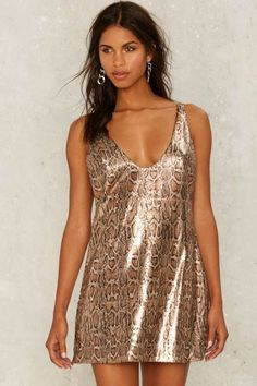 Nasty Gal Collection Cold Hearted Snake Sequin Dress
