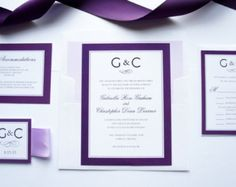 Purple Wedding Invitations Second Invitation Samples
