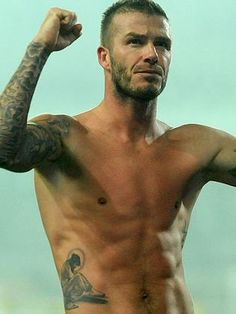 Every gal should have at least one  picture of a shirtless David Beckham for her boards......