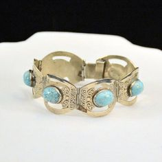 Sterling Silver Turquoise Native American by Deweytiques on Etsy