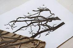 Hand-carved block print by Lauren Crowe Hand Carved, Carving, Prints, Instagram, Wood Carving, Sculptures, Printmaking, Sculpture, Wood Carvings